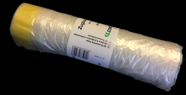 pfeffer verpackungen m llbeutel 60 liter hdpe zugband transparent. Black Bedroom Furniture Sets. Home Design Ideas